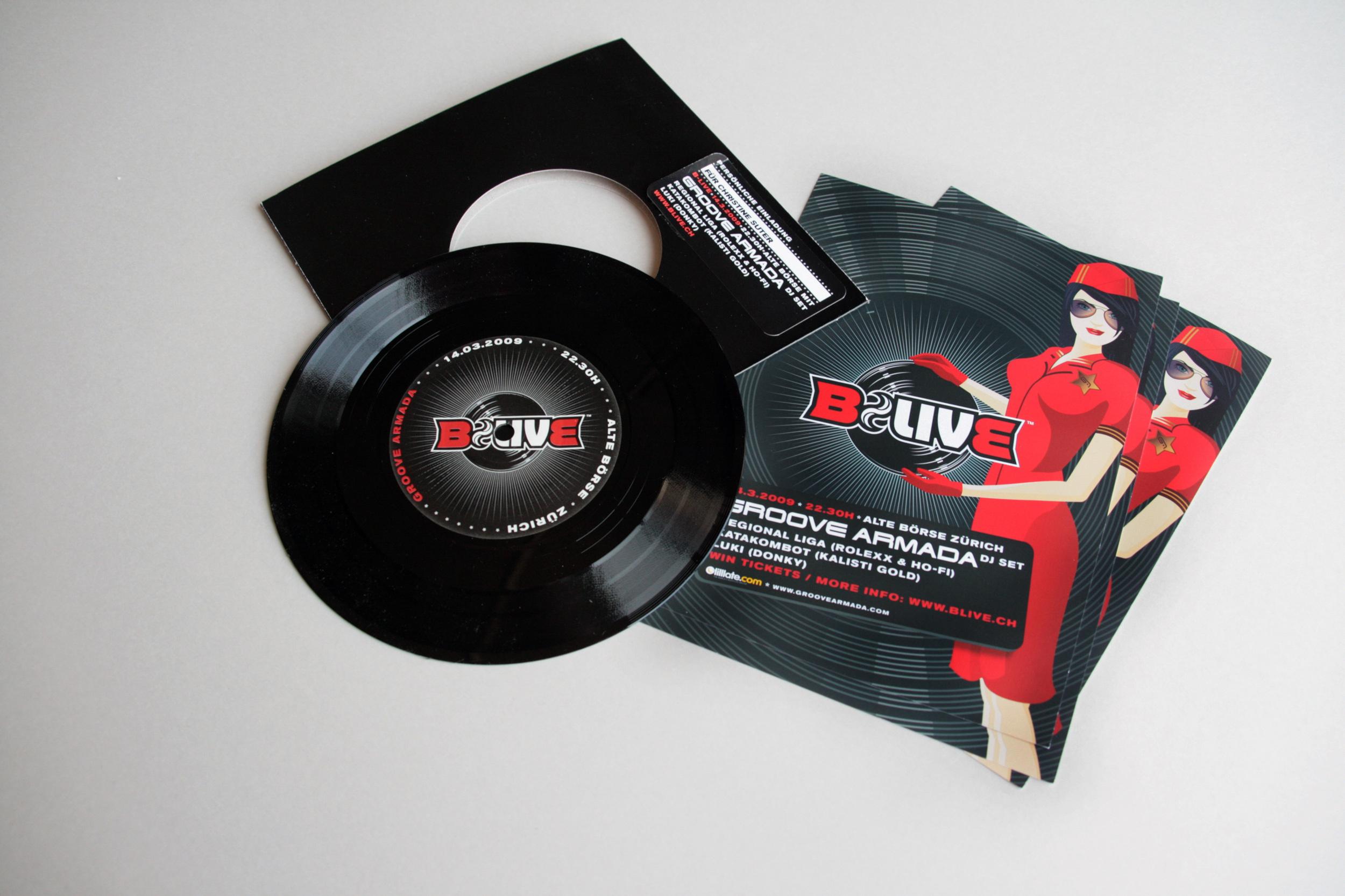 B-Live Single, Flyer