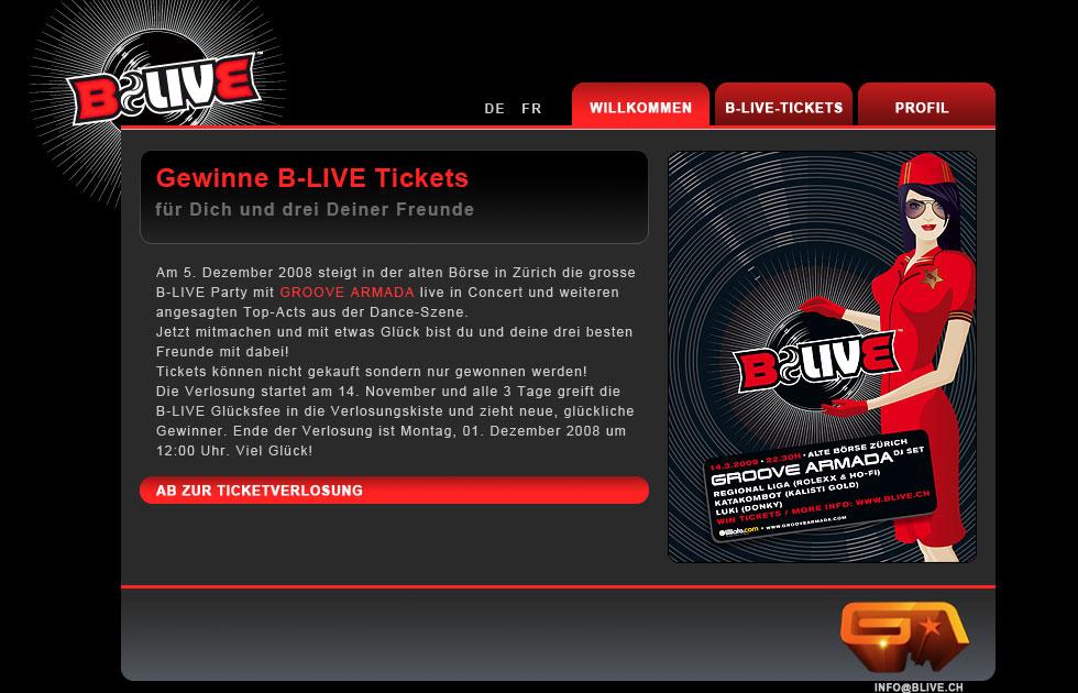 B-Live Website